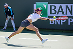 March 8, 2019: Caroline Garcia (ESP) stretches during her match where she was defeated by Jennifer Brady (USA) 6-3, 3-6, 6-0 at the BNP Paribas Open at the Indian Wells Tennis Garden in Indian Wells, California. ©Mal Taam/TennisClix/CSM