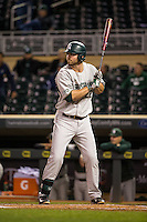 Ryan Krill (22) of the Michigan State Spartans bats during a 2015 Big Ten Conference Tournament game between the Maryland Terrapins and Michigan State Spartans at Target Field on May 20, 2015 in Minneapolis, Minnesota. (Brace Hemmelgarn/Four Seam Images)