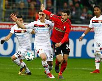 Dominik KOHR, Bayer Leverkusen - Tim KLEINDIENST, SCF,   Charles ARANGUIZ, Bayer Leverkusen,   Fussball, 1. Bundesliga  2017/2018<br /> <br />  <br /> Football: Germany, 1. Bundesliga, SC Freiburg vs Bayer 04 Leverkusen, Freiburg, 03.02.2018 *** Local Caption *** © pixathlon<br /> Contact: +49-40-22 63 02 60 , info@pixathlon.de