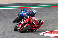3rd October 2021; Austin, Texas, USA;  Francesco Bagnaia of Italy and Ducati Lenovo Team during the MotoGP Red Bull Grand Prix of the Americas  at Circuit of The Americas in Austin, Texas.