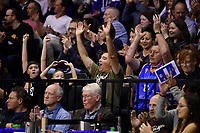 Fans during the round two NBL match between the Wellington Saints and the Southland Sharks at TSB Bank Arena, Wellington, New Zealand on Friday 7 May 2021.<br /> Photo by Masanori Udagawa. <br /> www.photowellington.photoshelter.com
