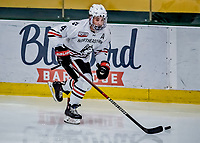 29 December 2018: Northeastern University Huskies Defenseman Jeremy Davies, a Junior from Ste-Anne-de-Bellevue, Quebec, in third period action against the University of Alabama Huntsville Chargers at Gutterson Fieldhouse in Burlington, Vermont. The Huskies shut out the Chargers 2-0 in the Catamount Cup tournament at the University of Vermont. Mandatory Credit: Ed Wolfstein Photo *** RAW (NEF) Image File Available ***