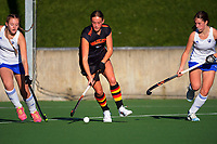 Waikato v Auckland White. 2021 National Women's Under-18 Hockey Tournament day two at National Hockey Stadium in Wellington, New Zealand on Monday, 12 July 2021. Photo: Dave Lintott / lintottphoto.co.nz https://bwmedia.photoshelter.com/gallery-collection/Under-18-Hockey-Nationals-2021/C0000T49v1kln8qk