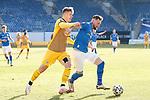 20.02.2021, xtgx, Fussball 3. Liga, FC Hansa Rostock - SV Waldhof Mannheim, v.l. Anthony Roczen (Mannheim), Jan Loehmannsroeben (Hansa Rostock, 24) <br /> <br /> (DFL/DFB REGULATIONS PROHIBIT ANY USE OF PHOTOGRAPHS as IMAGE SEQUENCES and/or QUASI-VIDEO)<br /> <br /> Foto © PIX-Sportfotos *** Foto ist honorarpflichtig! *** Auf Anfrage in hoeherer Qualitaet/Aufloesung. Belegexemplar erbeten. Veroeffentlichung ausschliesslich fuer journalistisch-publizistische Zwecke. For editorial use only.