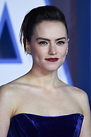 """Daisy Ridley<br /> arriving for the """"Star Wars: The Rise of Skywalker"""" premiere at the Cineworld Leicester Square, London.<br /> <br /> ©Ash Knotek  D3545 17/12/2019"""