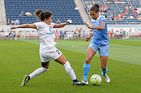 Chicago, IL - Saturday July 30, 2016: Molly Menchel, Cara Walls during a regular season National Women's Soccer League (NWSL) match between the Chicago Red Stars and FC Kansas City at Toyota Park.