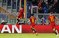 Roma s Stephan El Shaarawy, left, celebrates after scoring during the Champions League Group C soccer match between Roma and Chelsea at Rome's Olympic stadium, October 31, 2017.<br /> UPDATE IMAGES PRESS/Riccardo De Luca