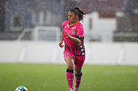 Jessica Silva Valdebenito (18) of Sporting Charleroi in action during a female soccer game between Sporting Charleroi and White Star Woluwe on the 7 th matchday in play off 2 of the 2020 - 2021 season of Belgian Scooore Womens Super League , friday 14 th of May 2021  in Marcinelle , Belgium . PHOTO SPORTPIX.BE | SPP | Sevil Oktem