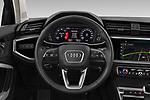 Car pictures of steering wheel view of a 2019 Audi Q3 Advanced 5 Door SUV Steering Wheel