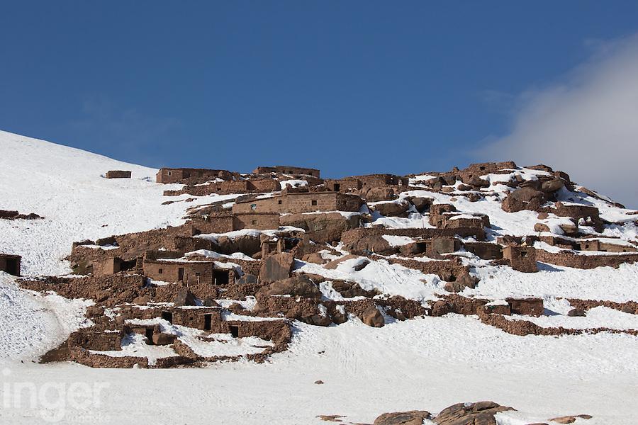 Summer Berber Village at Oukaimeden, near Marrakech, Morocco