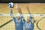 Tulane falls to Memphis, 3-2, in volleyball action at Devlin Fieldhouse.