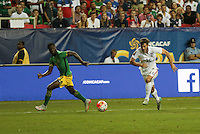 Atlanta, Georgia - Wednesday, July 22, 2015: Jamaica goes up 2-1 over the USMNT early in the second half during Semifinal play in the 2015 Gold Cup at the Georgia Dome.