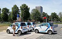 Nederland  Amsterdam  2017.  Science Park van de Universiteit van Amsterdam.  Car2Go parkeerplaats.  Foto Berlinda van Dam / Hollandse Hoogte