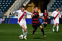 Chester, PA - Sunday December 10, 2017: Griffin Dorsey, Jared Gilbey. Stanford University defeated Indiana University 1-0 in double overtime during the NCAA 2017 Men's College Cup championship match at Talen Energy Stadium.
