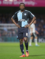 Marcus Bean of Wycombe Wanderers during the Capital One Cup match between Wycombe Wanderers and Fulham at Adams Park, High Wycombe, England on 11 August 2015. Photo by Andy Rowland.