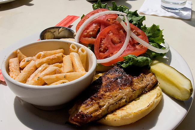 Grilled Fish Sandwich, Pasta Salad, Restaurant, Orlando, Florida