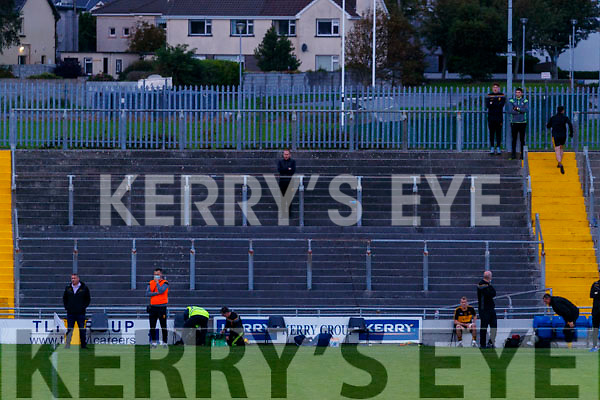 Dr Crokes Manager, Edmund O'Sullivan during the Kerry County Senior Football Championship Semi-Final match between Mid Kerry and Dr Crokes at Austin Stack Park in Tralee, Kerry.