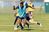 BRADENTON, FL - JANUARY 19: Andres Perea, Jackson Yell battle for a ball during a training session at IMG Academy on January 19, 2021 in Bradenton, Florida.