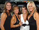 Ginger Ziebold, Brenda Scott, Amy Eager and Cristine Foster at the Astros Wives Gala at Minute Maid Park Thursday Aug. 06, 2009.(Dave Rossman/For the Chronicle)