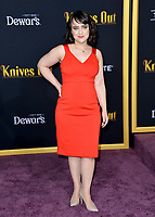 "LOS ANGELES, USA. November 15, 2019: Mara Wilson at the premiere of ""Knives Out"" at the Regency Village Theatre.<br /> Picture: Paul Smith/Featureflash"