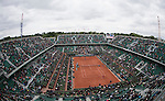 May 24, 2016:   defeated  , at the Roland Garros being played at Stade Roland Garros in Paris, .  ©Leslie Billman/Tennisclix/CSM