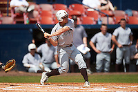 Lehigh Mountain Hawks second baseman Mike Garzillo (2) at bat during a game against the Dartmouth Big Green on March 20, 2016 at Chain of Lakes Stadium in Winter Haven, Florida.  Dartmouth defeated Lehigh 5-4.  (Mike Janes/Four Seam Images)