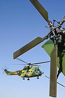 MALI, Gao, Minusma UN mission, Camp Castor, Helicopter unit Romanian Pumas for paramedic rescue flights, Helicopter IAR-330 Puma L-RM / MALI, Gao, UN Mission Minusma, Multidimensionale Integrierte Stabilisierungsmission der Vereinten Nationen in Mali, CAMP CASTOR , rumänische Hubschrauber Staffel für medizinische Hilfe, Helikopter IAR-330 Puma L-RM