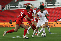 13th April 2021; Bet365 Stadium, Stoke, England; Demi Stokes of England in action during the womens International Friendly match between England and Canada