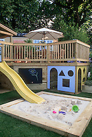 Two tier Deck with Children's Play Area