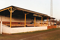 General view of Staines Town FC, Wheatsheaf Park, Wheatsheaf Lane, Staines, Middlesex, pictured on 9th December 1989