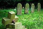 In Loving Memory plastic flower  Norfolk cemetery. 2014, 2010s UK