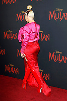 "LOS ANGELES - MAR 9:  Christina Aguilera at the ""Mulan"" Premiere at the Dolby Theater on March 9, 2020 in Los Angeles, CA"