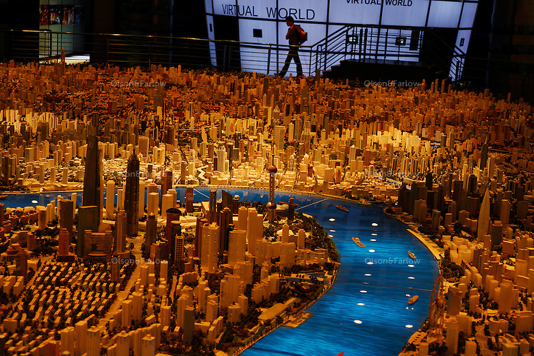 City Planning Museum off People's Square in the Puxi side of Shanghai.  Models show not only the buildings that are already done, but the plans for the future.