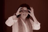 """Cathleen Schine (born 1953) is an American author of several novels, including Rameau's Niece (1993). Her first book was Alice in Bed (1983), which was. Cathleen Schine é libro perfetto sotto ogni punto di vista: divertente, travolgente e qualunque aggettivo in """"ente"""" vi passi per la testa. Pordenonelegge 17 settembre 2016. Photo by Leonardo Cendamo/Getty Images"""