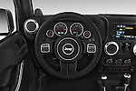 Car pictures of steering wheel view of a 2015 JEEP Wrangler Rubicon 3 Door Suv 4WD Steering Wheel