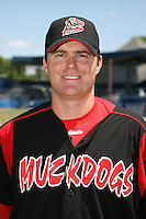 June 16, 2009:  Timothy Leveque of the Batavia Muckdogs poses for a head shot before the teams practice at Dwyer Stadium in Batavia, NY.  The Batavia Muckdogs are the NY-Penn League Single-A affiliate of the St. Louis Cardinals.  Photo by:  Mike Janes/Four Seam Images