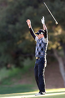 December 3, 2011: Zach Johnson eagles the 18th hole during the third round of the Chevron World Challenge held at Sherwood Country Club, Thousand Oaks, CA.