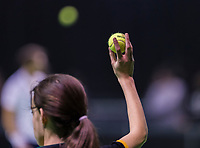 Rotterdam, Netherlands, 11 februari, 2018, Ahoy, Tennis, ABNAMROWTT, Qualifying final, ballgirl<br /> Photo: Henk Koster/tennisimages.com