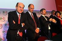 Pierluigi Bersani Segretario PD ed Enrico Letta.Roma 20/1/2012 Nuova Fiera Di Roma.Assemblea Nazionale PD Partito Democratico.Foto Insidefoto Andrea Staccioli