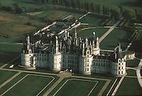Europe/France/Centre/37/Indre-et-Loire/Chambord: Le Château de Chambord - Vue aérienne