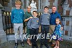 Twins Fionnán and Oisin Brosnan, former students from Caherleaheen NS at their Confirmation in St Johns Church Tralee on Sunday with their family l to r: Sean Og, Fiona, Fionnán, Oisin, John and Aoibhinn Brosnan.