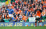 St Johnstone v Dundee United....17.05.14   William Hill Scottish Cup Final<br /> Stevie May fires in a shot at goal<br /> Picture by Graeme Hart.<br /> Copyright Perthshire Picture Agency<br /> Tel: 01738 623350  Mobile: 07990 594431