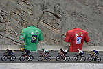 The peloton led by Ineos Grenadiers climb Jais Mountain during Stage 5 of the 2021 UAE Tour running 170km from International Marine Club Fujairah to Jebel Jais, Fujairah, UAE. 25th February 2021. <br /> Picture: LaPresse/Fabio Ferrari   Cyclefile<br /> <br /> All photos usage must carry mandatory copyright credit (© Cyclefile   LaPresse/Fabio Ferrari)
