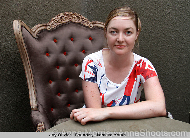 Joy Olivier, Founder, Ikamava Youth, was one of 25 South African leaders interviewed and photographed for a book on leadership to be published by TSiBA, a college for tertiary education, in October 2011.