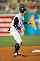 Louisville center fielder Josh Hamilton (30) takes his lead off of second base versus Indianapolis at Louisville Bats Field in Louisville, KY, Wednesday, August 8, 2007.