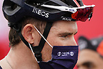 Luke Rowe (WAL) Ineos Grenadiers at sign on before the start of Stage 5 of the 2021 UAE Tour running 170km from Fujairah to Jebel Jais, Fujairah, UAE. 25th February 2021.  <br /> Picture: Eoin Clarke   Cyclefile<br /> <br /> All photos usage must carry mandatory copyright credit (© Cyclefile   Eoin Clarke)