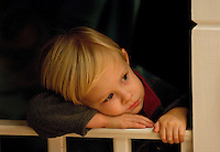 A young boy waits for Santa during the annual Christmas tree lighting event at Birkdale Village in Huntersville, NC. Birkdale Village combines the best of shopping, dining, apartments and entertainment venues within a 52-acre mixed-use development.