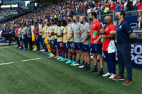 KANSAS CITY, KS - JULY 11: USA during a game between Haiti and USMNT at Children's Mercy Park on July 11, 2021 in Kansas City, Kansas.
