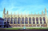 Cambridge: King's College Chapel, profile. Photo '82.