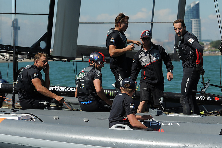 Sir Ben Ainslie (GBR), JULY 23, 2016 - Sailing: Sir Ben Ainslie (GBR) Land Rover BAR team principal and skipper during day one of the Louis Vuitton America's Cup World Series racing, Portsmouth, United Kingdom. (Photo by Rob Munro/Stewart Communications)